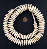Graduated White Camel Bone Disk Beads