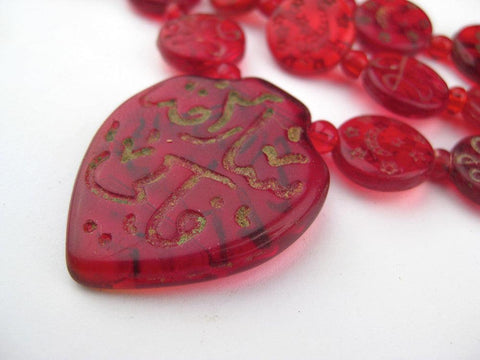 Image of Vintage Red Arabic Haji Beads - The Bead Chest