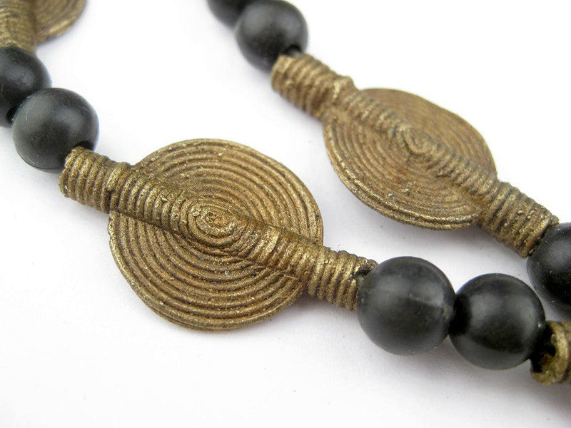 Smooth Sun Design Brass Baule Beads (14mm) - The Bead Chest