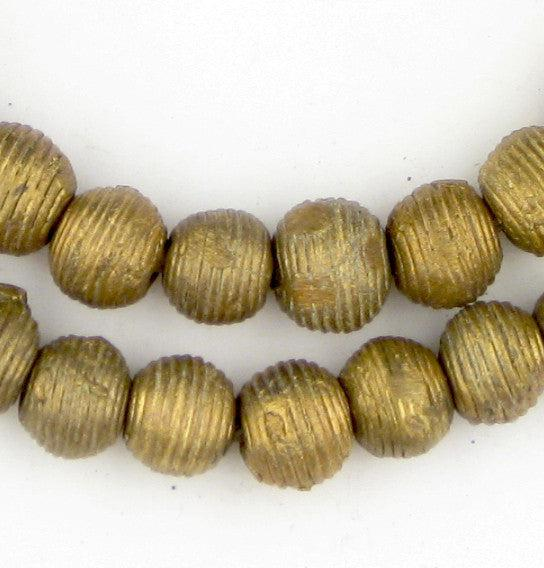 Wound Round Ghana Brass Beads (11mm) - The Bead Chest