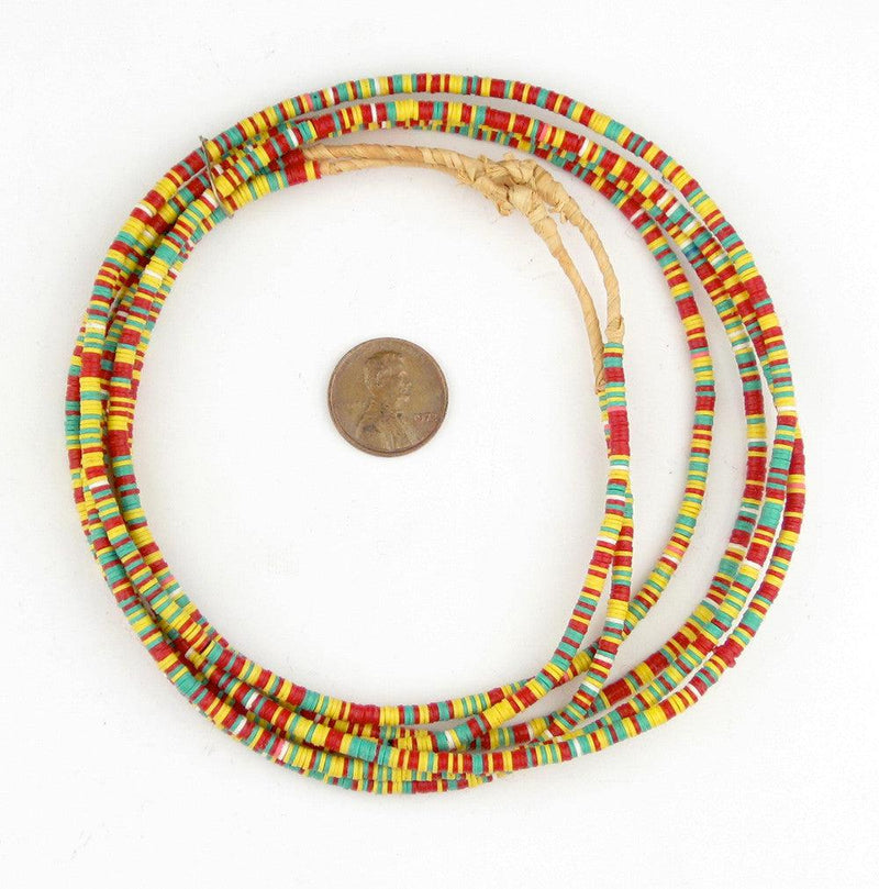 Ghana Medley Vinyl Phono Record Beads (3mm) - The Bead Chest