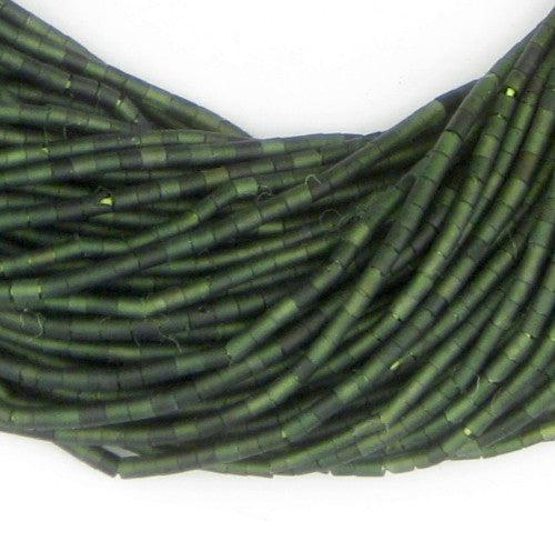 Tiny Green Jade Heishi Beads (3mm) - The Bead Chest