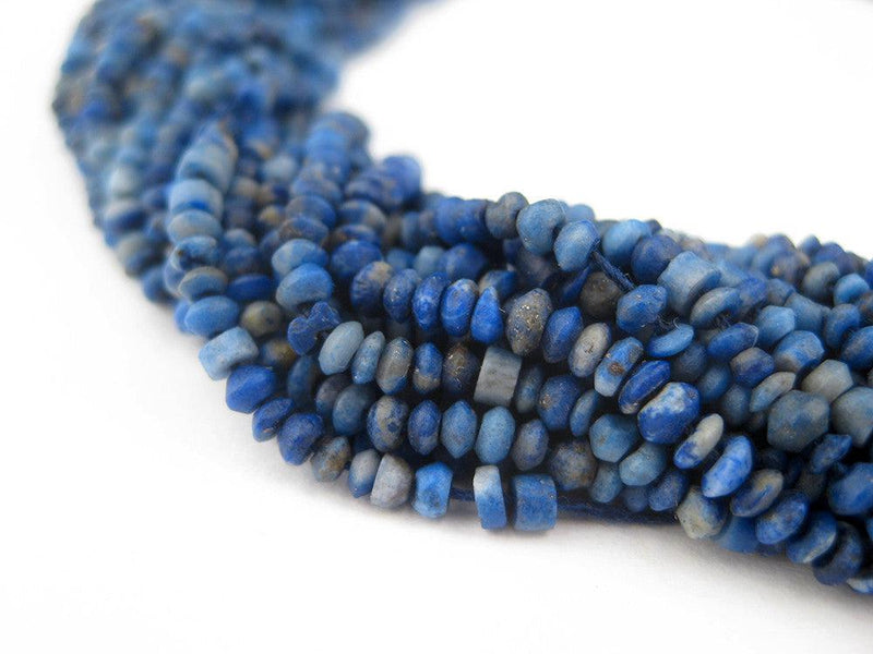 Tiny Lapis Lazuli Chunk Beads (2.5mm) - The Bead Chest