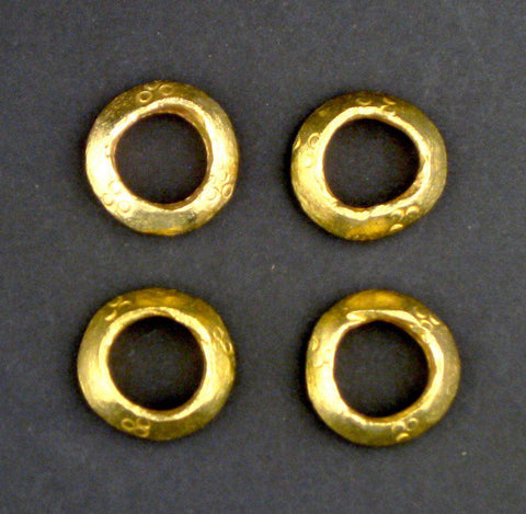 Brass Ethiopian Wollo Rings (22mm) (Set of 4) - The Bead Chest