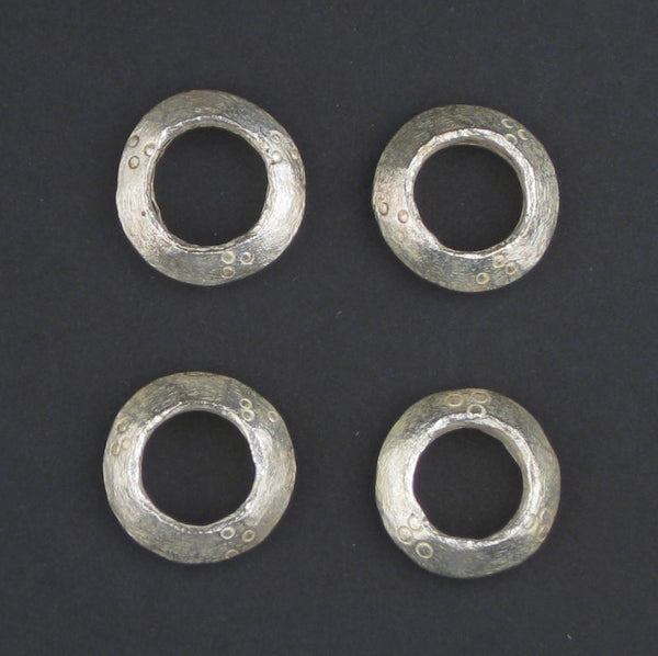 Silver Ethiopian Wollo Rings (22mm) (Set of 4)