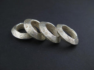 Silver Ethiopian Wollo Rings (18mm) (Set of 4) - The Bead Chest