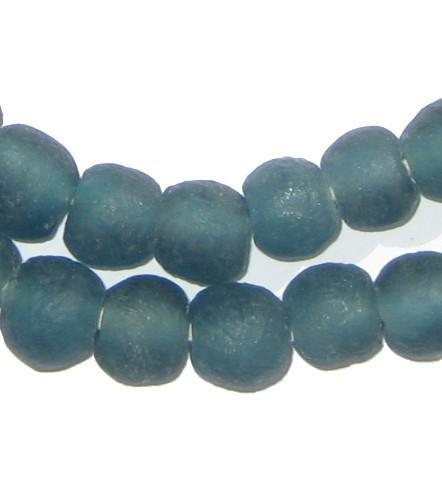 Teal Recycled Glass Beads (11mm) - The Bead Chest