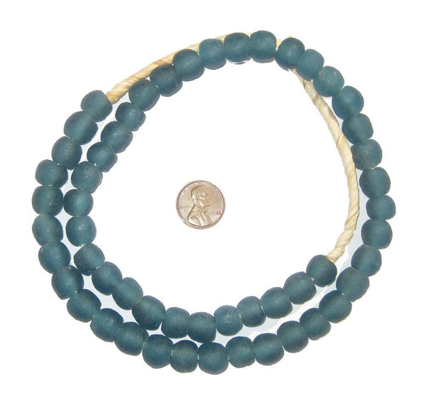 Teal Recycled Glass Beads (11mm)