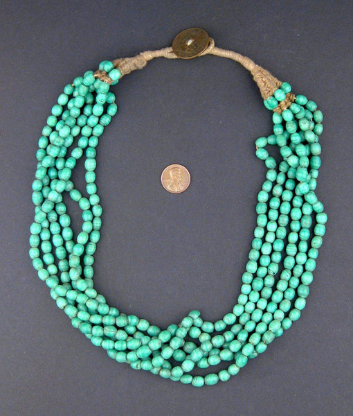 Emerald Green Naga Bead Necklace