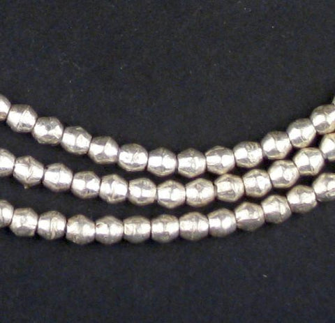 Image of Ethiopian White Metal Mini-Bicone Beads (5x5mm) - The Bead Chest