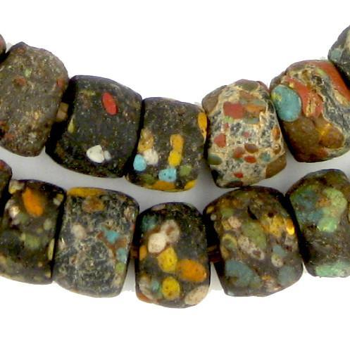 AWAITING REVIEW - Rare Antique Multicolor Hebron Kano Beads - The Bead Chest