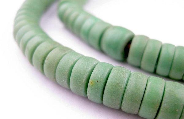 Sliced Green Prosser Beads