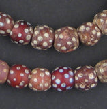 Red Antique Skunk Eye Beads
