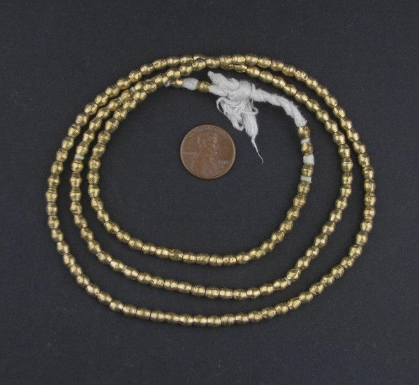 Ethiopian Brass Bicone Beads (4x4mm)