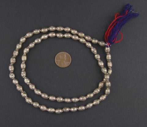 Silver Color Ethiopian Prayer Beads (9x6mm) - The Bead Chest