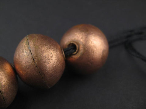 XL Ethiopian Copper Bicone Beads (18 x 22mm) - The Bead Chest
