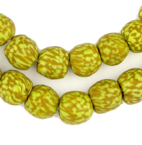 Springtime Fused Recycled Glass Beads (14mm) - The Bead Chest