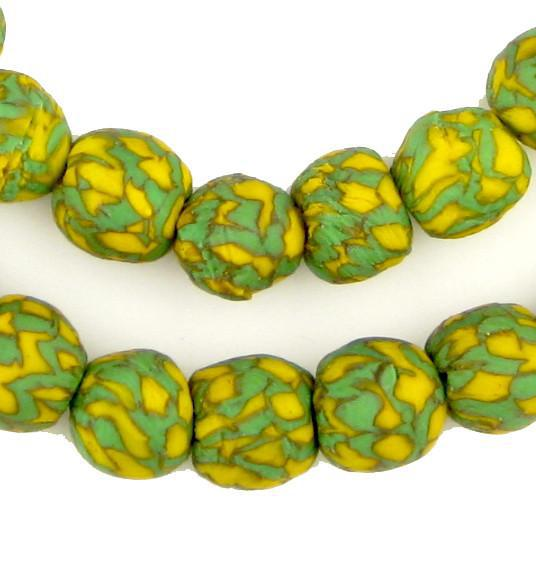 Gecko Fused Recycled Glass Beads (14mm) - The Bead Chest