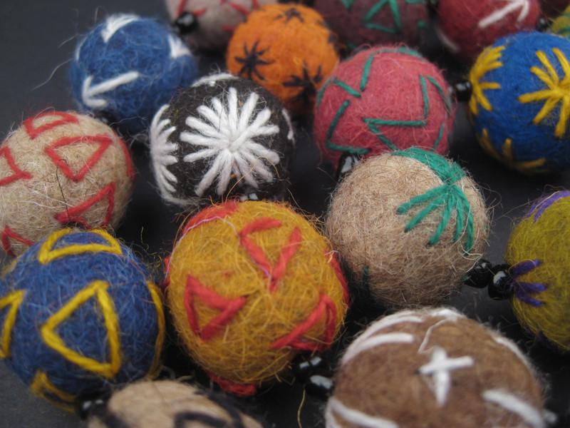 Embroidered Moroccan Felt Beads - The Bead Chest