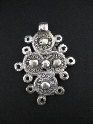 Ethiopian Cast Metal Cross Pendant - The Bead Chest
