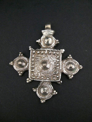 Image of Ethiopian Cast Metal Cross Pendant - The Bead Chest