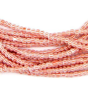 Hank Tiny Red Chevron Beads (6 Strands) - The Bead Chest