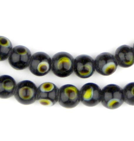 Image of Black Evil Eye Beads (6mm) - The Bead Chest
