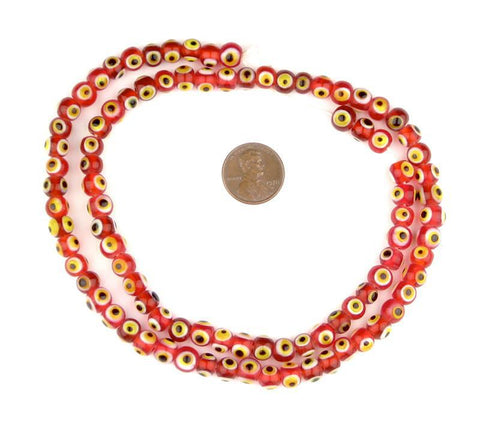 Red Evil Eye Beads (6mm) - The Bead Chest