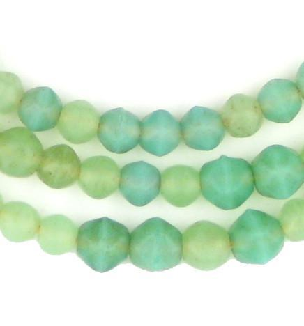 AWAITING REVIEW: Rare Old Turquoise Mini-Vaseline Beads - The Bead Chest