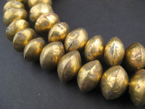 Mali Brass Bicone Beads (12x15mm) - The Bead Chest