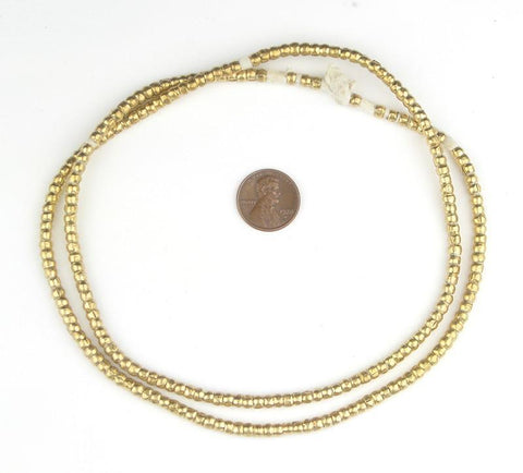Image of Short Brass Ethiopian Tube Beads (2x3mm) - The Bead Chest