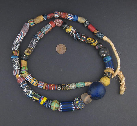 Image of AWAITING REVIEW: Extra Large Antique Venetian Mixed Trade Beads - The Bead Chest