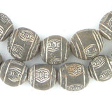 Black Terracotta Mali Clay Round Beads (16mm) - The Bead Chest