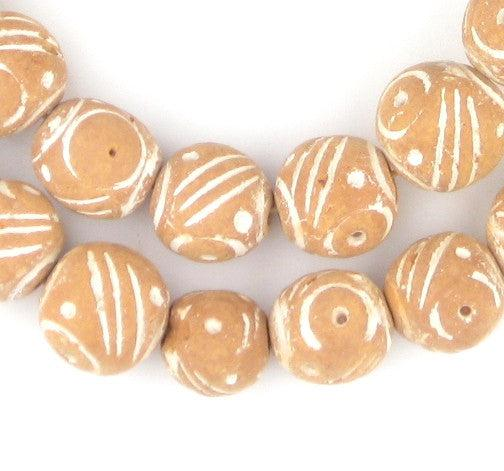 Natural Terracotta Mali Clay Beads (16mm) - The Bead Chest