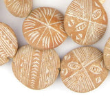 Natural Terracotta Mali Clay Medallions (17x45mm)