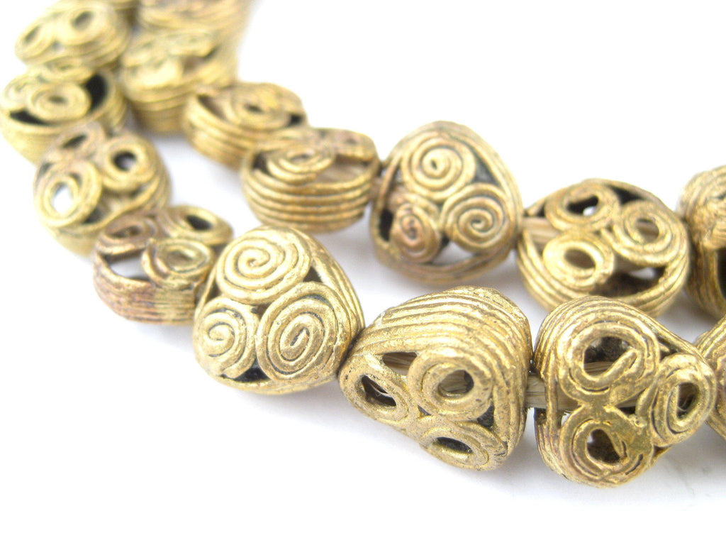 Mini Triangle-Circle Brass Filigree Beads Medley - The Bead Chest