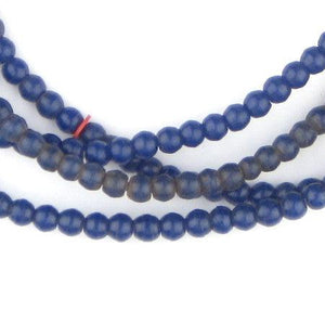 Navy Blue Baby Padre Olombo Beads - The Bead Chest