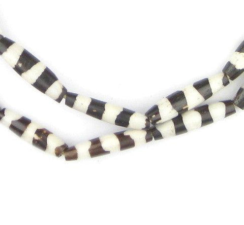 Porcupine Design Batik Bone Beads (Elongated) - The Bead Chest