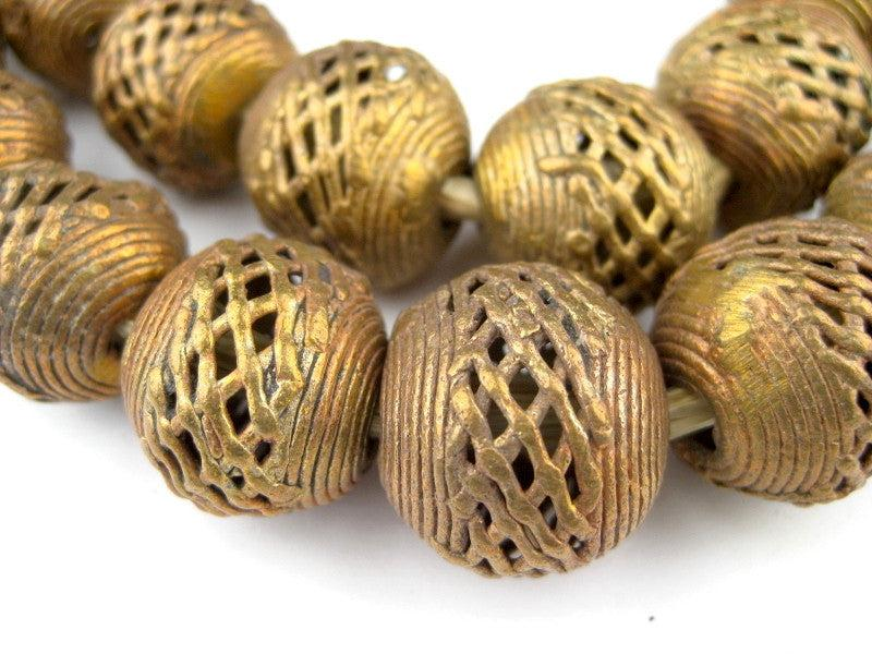 Brass Filigree Globe Beads (20mm) - The Bead Chest