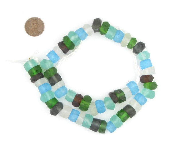 Earth Mix Recycled Java Sea Glass Beads