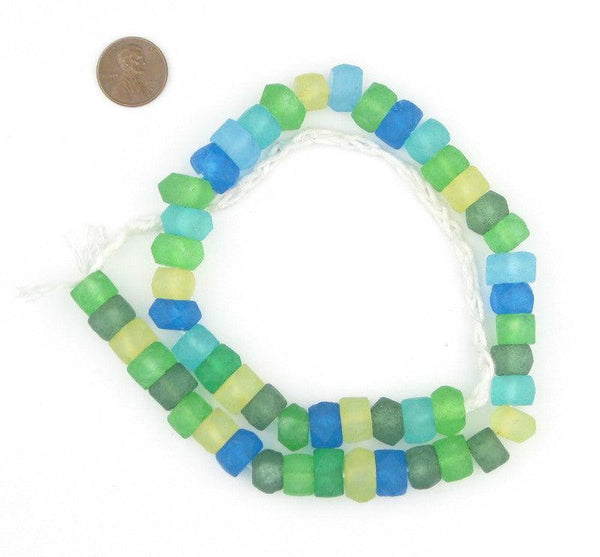 Seaside Medley Recycled Java Sea Glass Beads