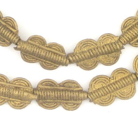 Double Sun Baule Brass Beads (16x10mm) - The Bead Chest