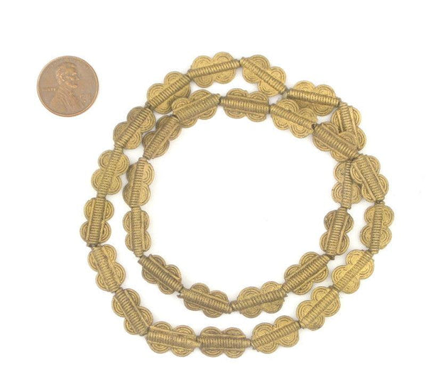 Double Sun Baule Brass Beads (16x10mm)