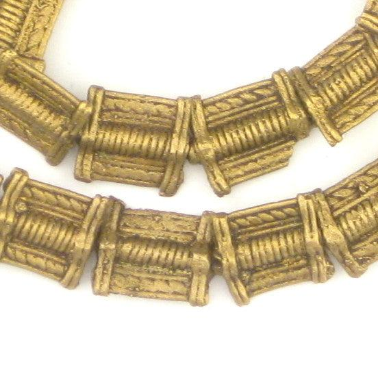 Mini-Rectangular Baule Brass Beads (12x11mm) - The Bead Chest