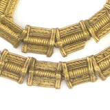 Mini-Rectangular Baule Brass Beads (12x11mm)