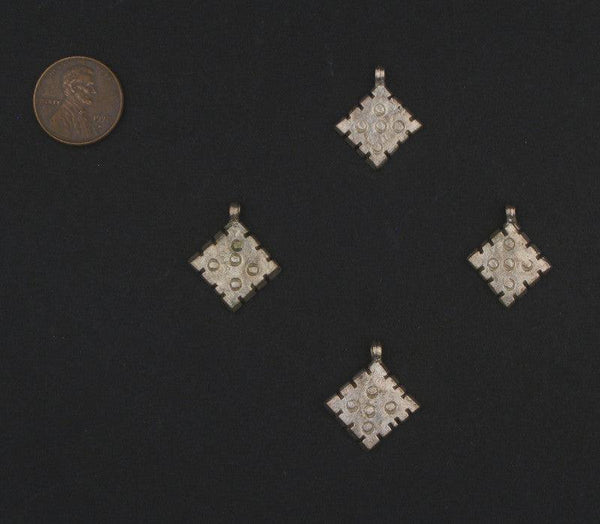 Silver Ethiopian Diamond Ornaments (Set of 4)