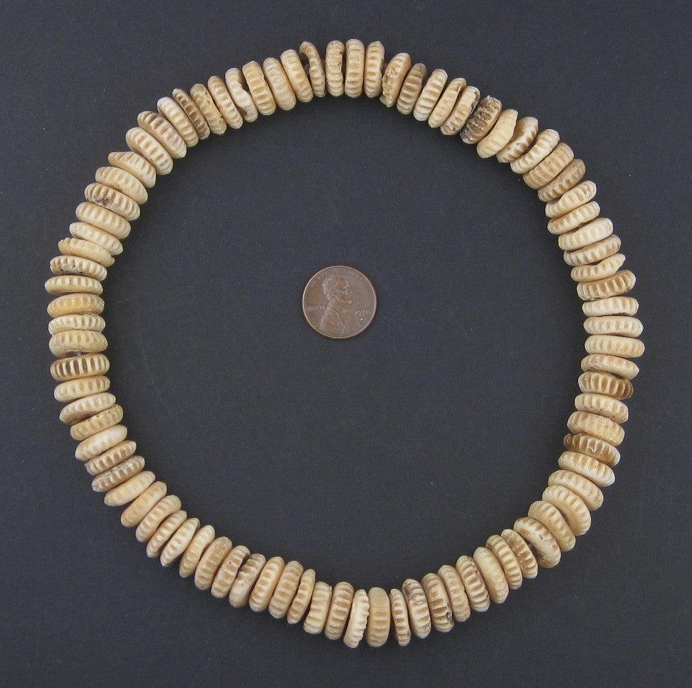 Carved Bone Disk Beads The Bead Chest