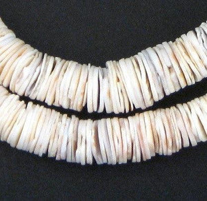 Ocean Shell Heishi Beads (14mm) - The Bead Chest
