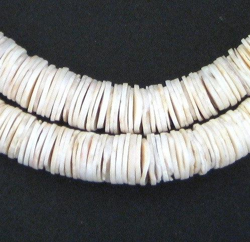Ocean Shell Heishi Beads (11mm) - The Bead Chest