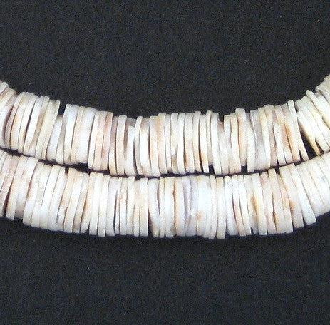 Ocean Shell Heishi Beads (8mm) - The Bead Chest
